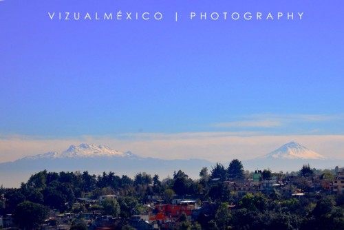 El Iztaccíhuatl y el Popocatépetl