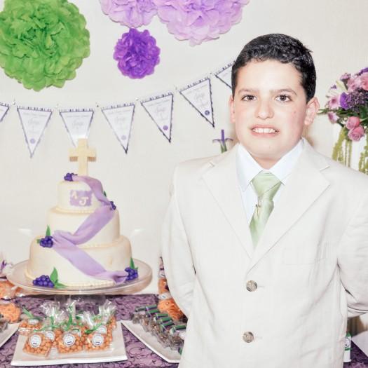En el pastel
