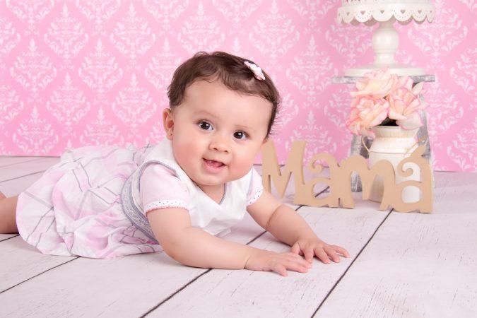 Set infantil 4- Madera blanca y pared rosa
