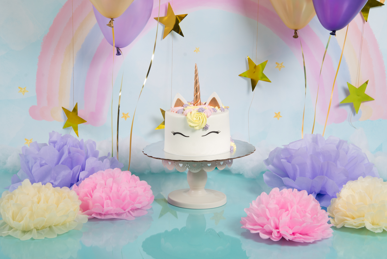 Pastel Smash Cake Sesión Fotos Pastel Unicornio